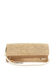 Heidi Klein Grace Bay Super Mini Raffia Clutch Bag Beige
