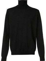 Vince Featherweight Turtleneck Jumper Black