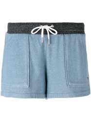 Maison Kitsune Patch Pocket Shorts Blue