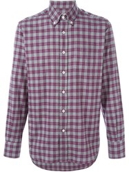 Canali Checked Shirt Grey
