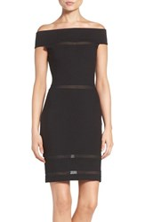 French Connection Women's 'Lula' Mesh Inset Body Con Dress