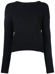 Le Ciel Bleu Knotted Bow Jumper Black