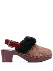 Etro Paisley Mules Red