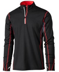 Ideology Id Men's Performance Quarter Zip Top Only At Macy's Black