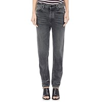 Denim X Alexander Wang Distressed Boyfriend Jeans Gray Aged