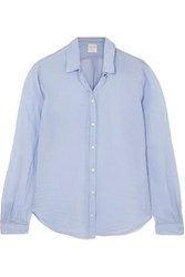 Forte Forte Cotton And Silk Blend Voile Shirt Light Blue