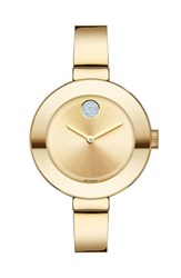 Movado Women's 'Bold' Crystal Accent Bangle Watch 34Mm