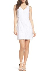 Lilly Pulitzer Blakely Lace Shift Dress Resort White Sea Swirling Lace