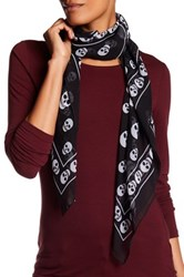 Collection Xiix Skull Border Square Scarf Black