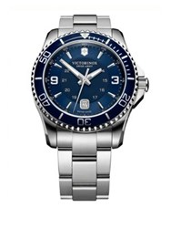 Victorinox Maverick Gs Stainless Steel Watch Signature Navy