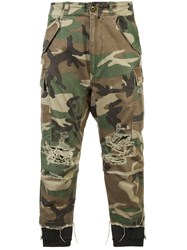 R 13 R13 Camouflage Trousers Green