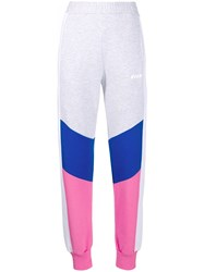 Msgm Colour Block Track Pants Grey