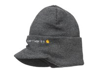 Carhartt Knit Hat With Visor Coal Heather Caps Black