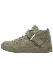 Cayler And Sons Sashimi Hightop Trainers Army Green Gold Oliv