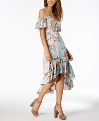American Rag Juniors  Ruffled High Low Maxi Dress Created For Macy s Ether  Combo afca0179a