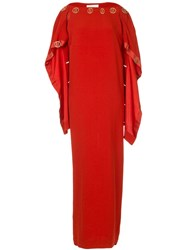 Dion Lee Spiral Sleeve Gown Red