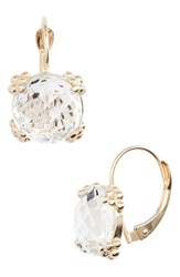 Anzie Dewdrop Topaz Drop Earrings Gold