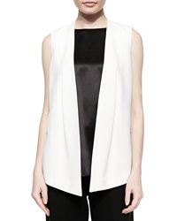 Lafayette 148 New York Yoko Sleeveless Open Vest X