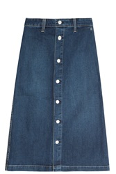 Alexa Chung For Ag Jeans Denim Button Up Skirt