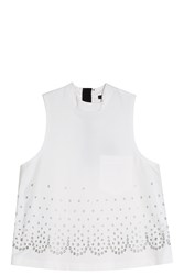 Alexander Wang Eyelet Top White