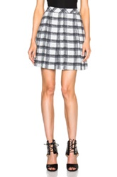 Proenza Schouler Small Plaid Pleated Skirt In Black Checkered And Plaid