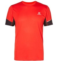 Salomon Agile Perforated Advancedskin Activedry T Shirt Red