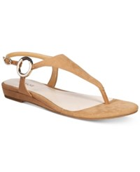 Alfani Women's Honnee Flat Sandals Only At Macy's Women's Shoes Camel