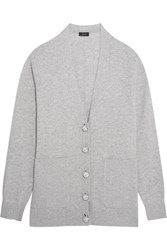Joseph Wool Cardigan Gray