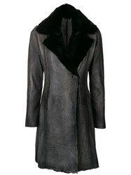 Avant Toi Fur Coat Grey