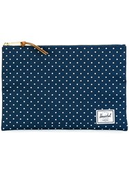 Herschel Supply Co. Polka Dots Clutch Blue