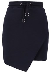 Missguided Pencil Skirt Navy Dark Blue