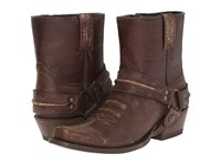 Stetson Quickdraw Sanded Brown Cowboy Boots