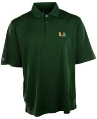 Antigua Men's Short Sleeve Miami Hurricanes Polo Pine Green
