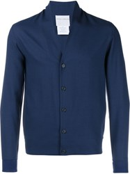 Stephan Schneider Long Sleeved Wool Cardigan Blue