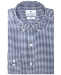 Ryan Seacrest Distinction Non Iron Slim Fit Navy Check Dress Shirt