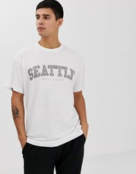 New Look Seattle Print T Shirt In White