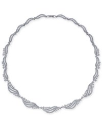 Danori Crystal And Pave 16 1 2 Collar Necklace Clear
