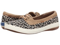 Keds Glimmer Boat Tan Animal Textile Women's Lace Up Casual Shoes Animal Print