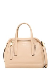 Perlina Mackenzie Leather Satchel Beige