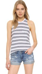 Stateside Striped Slub Tank White