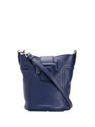Tod's Double T Bucket Bag Blue