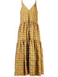 Marques Almeida Marques'almeida Checked Flared Dress 60