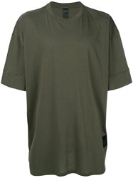 Odeur Oversized T Shirt Unisex Cotton Xl Green