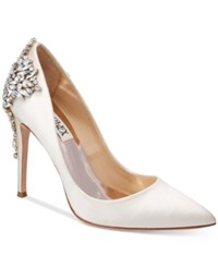 Badgley Mischka Gorgeous Pointed Toe Evening Pumps Women's Shoes Ivory