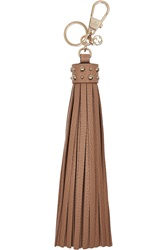 Gucci Textured Leather Tassel Keychain