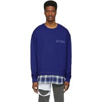 Adaptation Blue Plaid Logo Sweatshirt