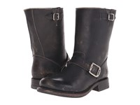 Frye Jenna Engineer Short Black Stone Wash Women's Boots