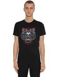 Kenzo Icon Printed Cotton Jersey T Shirt Black