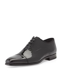 Patent Leather Cap Toe Oxford Black Magnanni For Neiman Marcus