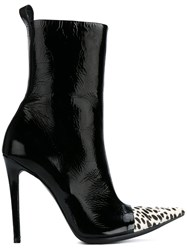 Haider Ackermann Contrast Toe Ankle Boots Black